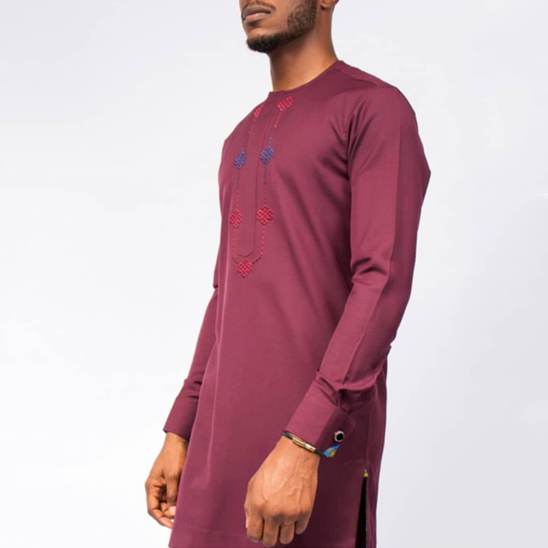 H&D African Men Dashiki Clothes Long Sleeve Shirt Pants Set Embroidered Agbada Traditional Soft Wears Ensemble Africain Homme