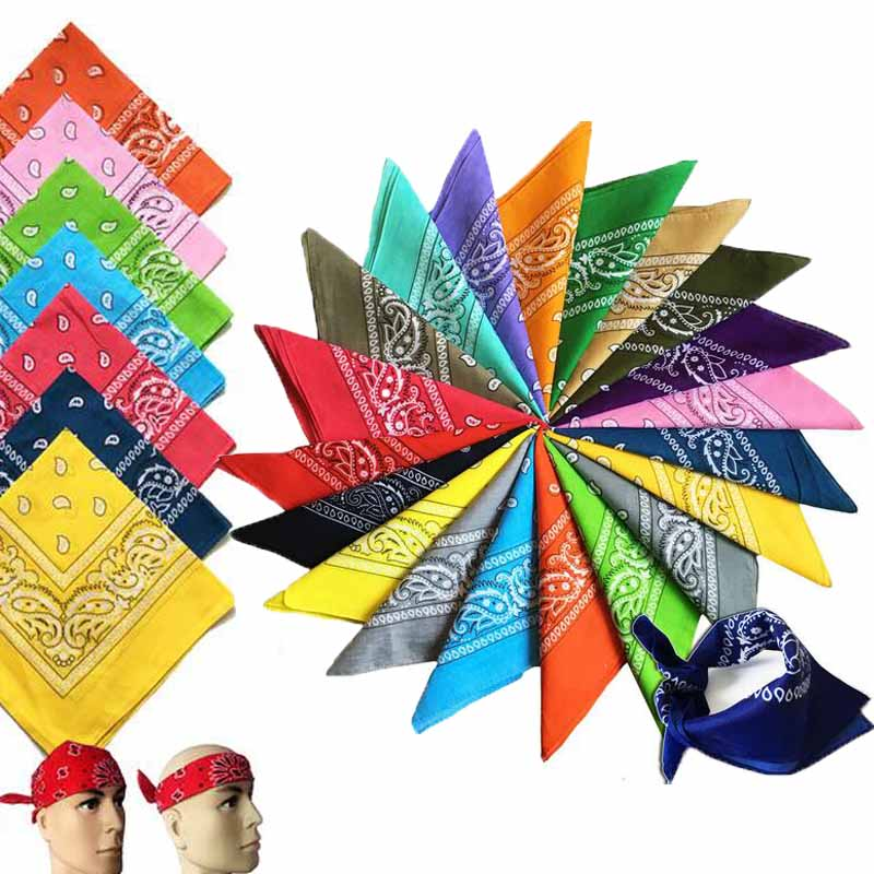 Fashion Hip Hop Cotton Paisley Bandana Headscarf Headband Printed Square Scarf Handkerchiefs Cycling Face Mask For Adults Kids