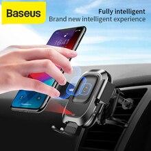 Baseus cargador de coche inalámbrico para iPhone Xs Max Xr X Samsung S10 S9, cargador de teléfono Android, soporte de teléfono de coche de carga rápida sin cables