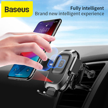 Baseus Беспроводное автомобильное зарядное держатель для телефона в ма для iPhone Xs Max Xr X samsung Android зарядное устройство для телефона Android, быстрая Беспроводная зарядка, автомобильный держатель для телефона