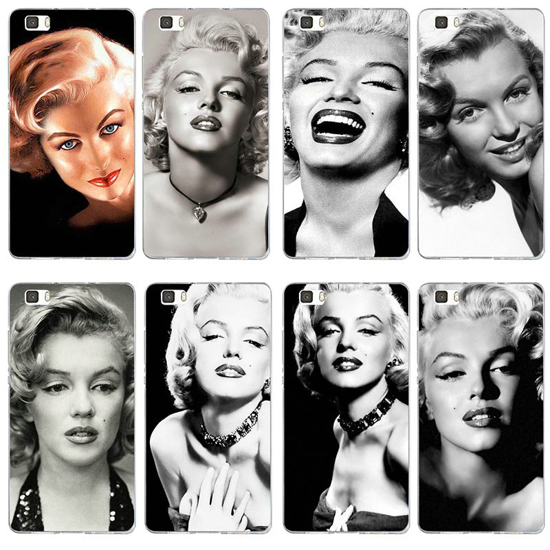 <font><b>Cases</b></font> for Huawei P8 P9 P10 P20 P30 Mate 10 Pro Y5 Y6 Y7 2018 2019 Honor 6X 7X 9 Lite Plus Bags <font><b>Sexy</b></font> Girl Marilyn Monroe Retro image