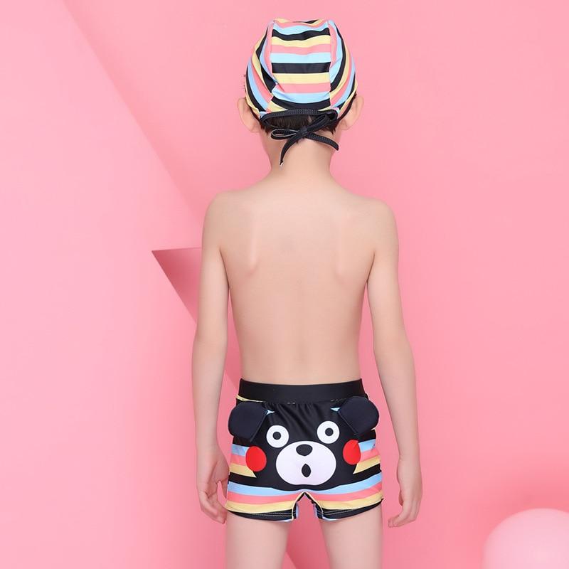 2018 Xiqi New Style KID'S Swimwear BOY'S Cartoon Swimming Trunks Cute Little Bear CHILDREN'S Swimming Trunks Set