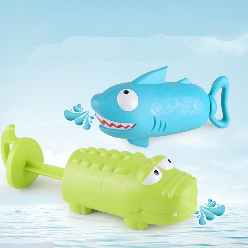 Children Summer Outdoor Toys Crocodile Shark Water Gun Game Toys Kids Beach Swimming Pool Water Spray Playing Water Toys