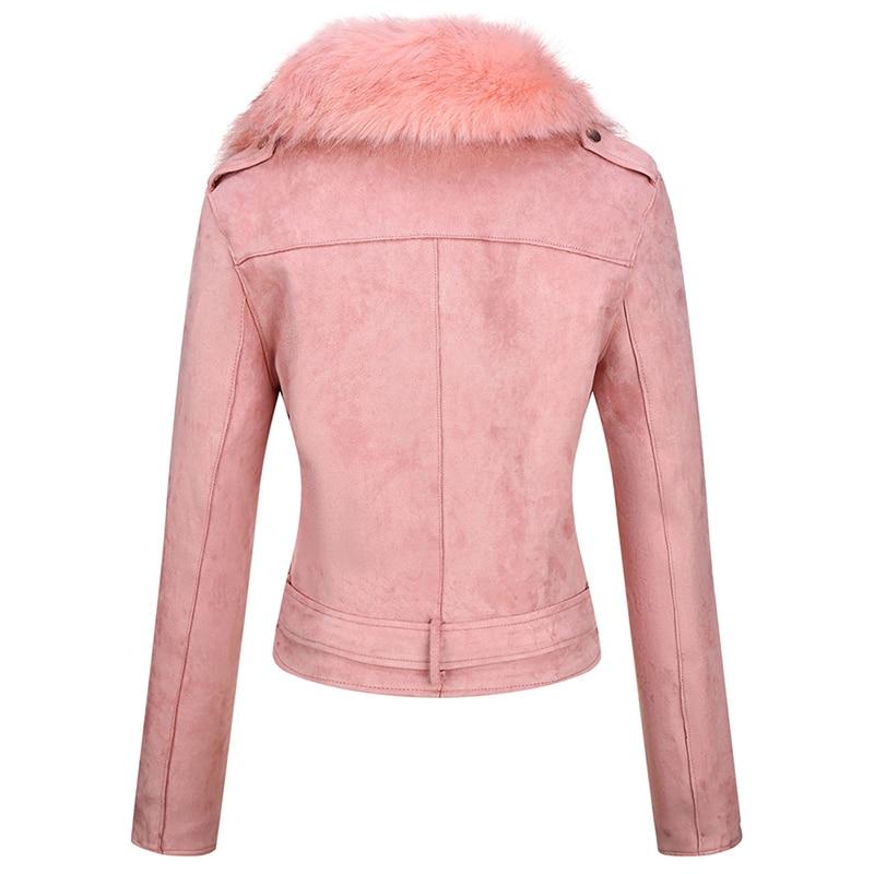 H56373c4d482447d391a9806e381b67e0A Giolshon 2021 New Winter Women Thick Warm Faux Suede Jacket Coat With Belt Detachable Faux Fur Collar Leather Jackets Outwear