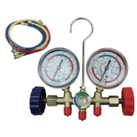 Air Conditioning Manifold Gauges A/C Service Diagnostic 1/4 Quick Connectors
