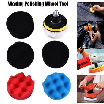 7pcs 8CM Polishing Buffing Pad Kit for Auto Car Polishing Wheel Kit Buffer With Drill Adapter Car Removes Scratches image