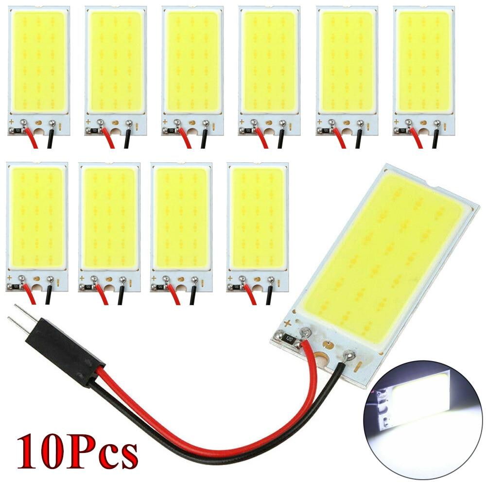 Discount! 5Pcs / 10Pcs White COB 18 LED Plate Car Interior Dome Light Bulb T10 Festoon 12V Lights Wholesale Quick Delivery CSV