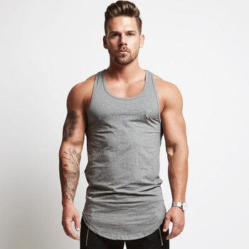 Solid Bodybuilding Tank Tops Men Gym Workout Fitness sleeveless shirt Male Summer Cotton Undershirt Casual Singlet Vest Clothes