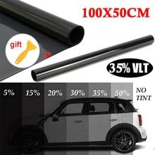 for auto accessories 100x50cm New Car Home Window TINT 35% VLT Black Film Foil Sticker Decal+Scraper in high quality velton vlt js60l black red