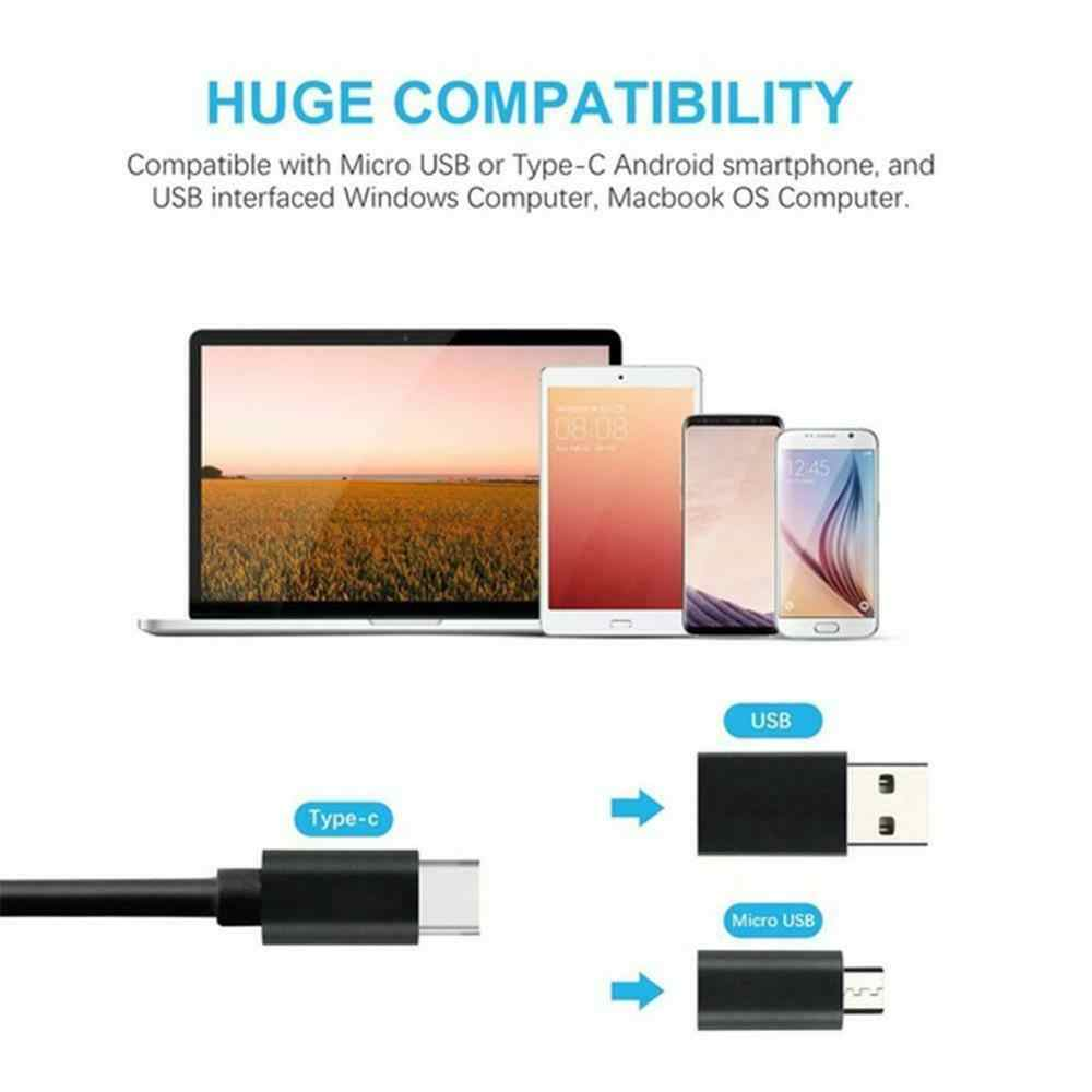 3in 1 6LED 7 มม.Android Endoscope กันน้ำงู Borescope USB 1 M/1.5 M/2 m/3.5 M