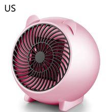 EU/JP/US Household Small Electric Heater Cute Cartoon Mini Desktop Heaters