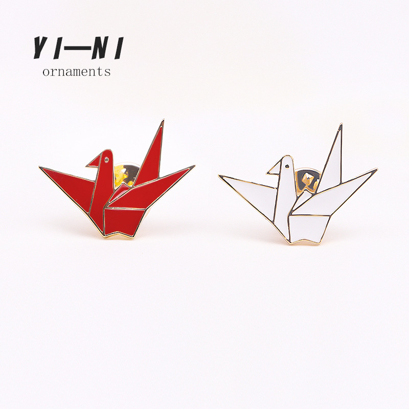 Bad Guy Thousand Paper Cranes Brooches for Women's Brooch Pin Jewelry Clothes Scarf Buckle Garment Accessories Fashion Jewelry-1
