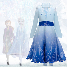 Elsa Anna Girls Dresses Children Carnival Party Dress Kids Cinderella Snow White Halloween Cosplay Costume Girl Princess Dress цена 2017