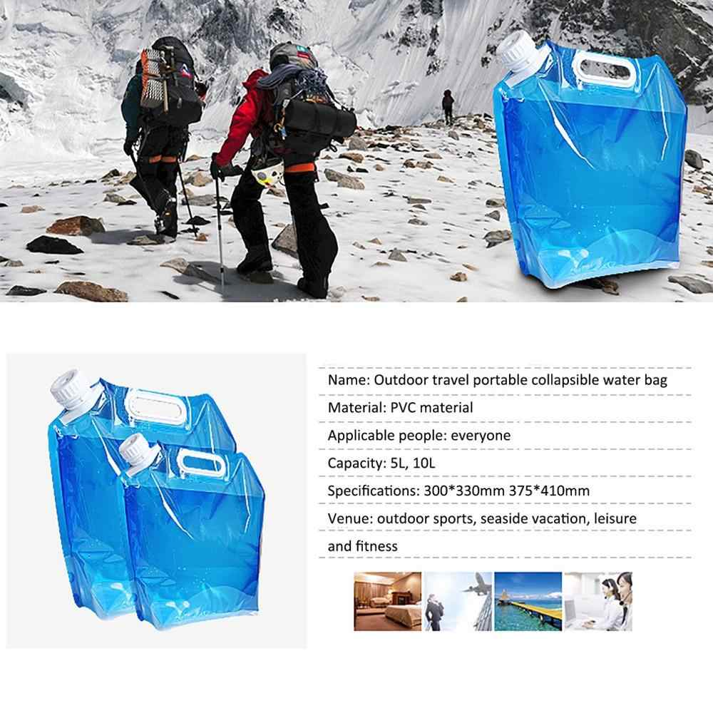 10L Portable Folding Drinking Water Bag Outdoor Camping Bladder 2020 F0X5