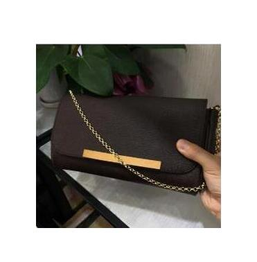 Latest Fashion Stylish Women Clutch Genuine Leather Handbag with Chain  bag favorite bags Free shipping