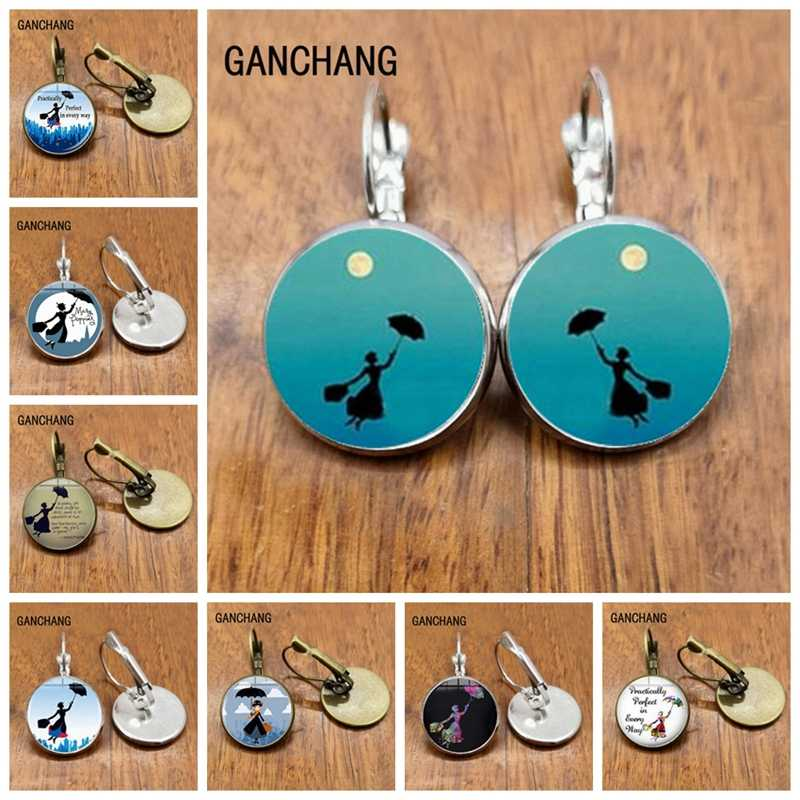 Baru Fashion Mary Poppins Anting-Anting Steampunk Mary Poppins Anting-Anting