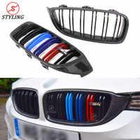 M3 M4 Carbon Grill For BMW F32 F33 F36 F80 F82 F83 Plastic Front Bumper lip Grille Gloss Black 3 Color 2014 2015 2016 2017 2018+