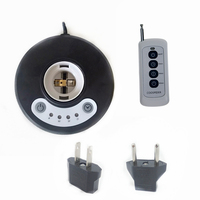 Timer Lamp holder for E26/E27 bases w/ Remote control, Lock protection for children,Battery included