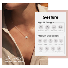 Pendant Necklace Engrave 316l-Stainless-Steel Personalized Women E-Manco Own for Gesture