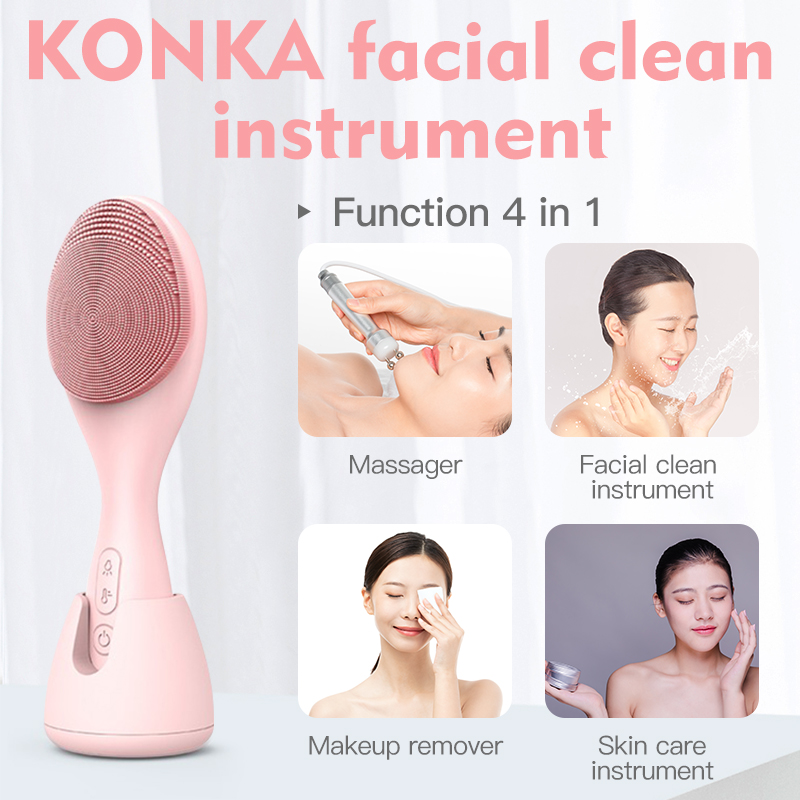 KONKA Electric facial cleansing brush IPX6 waterproof Blackhead Face Washer Beauty equipment Sonic Face Massager 3
