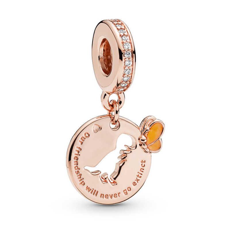 2 pièces/lot offre spéciale dinosaure breloques perles ajustement Pandora Bracelets collier pour femmes bijoux à bricoler soi-même accessoires coccinelle Lion zèbre