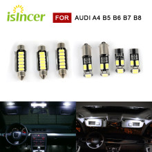 Perfect White Canbus LED Bulb Interior Dome Map Overhead Lights Kit For Audi A4 S4 RS4 B5 B6 B7 B8 Replacement Lamp 1995-2015