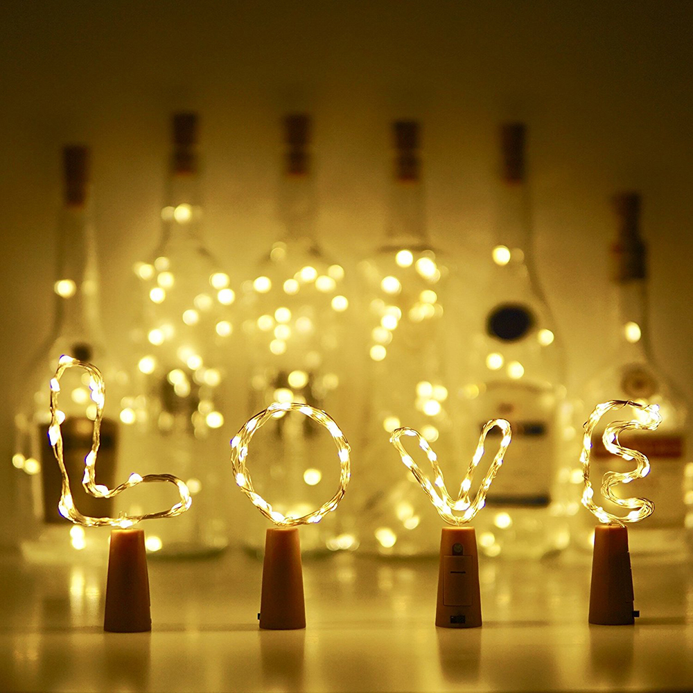 Wine Bottle String Light Copper Wire LED Starry Fairy Light Battery Operated Light For Party Wedding Valentine's Day Decor  D40