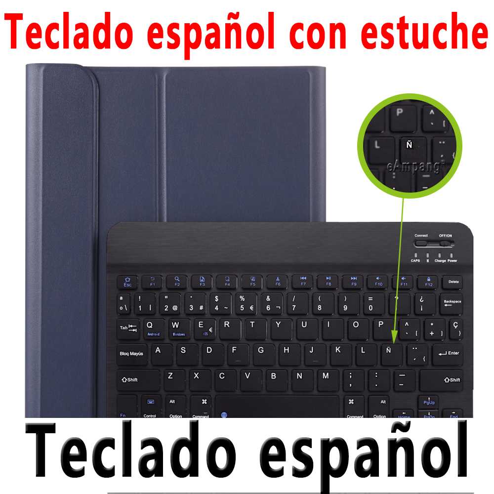 Spanish Keyboard Brown For iPad Pro 11 2020 2018 Keyboard Case with Pencil Holder Keyboard for Apple iPad Pro