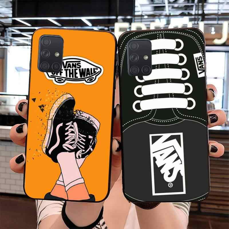 Vans Off The Wall Zachte Siliconen Tpu Telefoon Cover Voor Samsung S20 Plus Ultra S6 S7 Rand S8 S9 Plus s10 5G Lite 2020