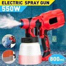 Handheld Spray Guns Paint Sprayers 220V 800ML High Power Home Electric Airbrush Easy Spraying Clean Perfect for Beginne