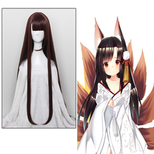 Game Azur Lane Cosplay Wigs Akagi Cosplay Wig Heat Resistant Synthetic Wig Hair Halloween Party Anime Women Cosplay Wig все цены