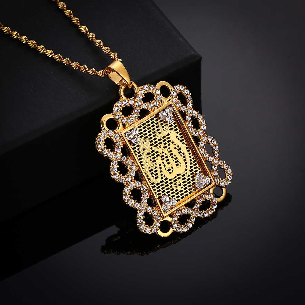 高級クリスタルコインネックレストルコ女性/男性ゴールドカラートルコウェディングジュエリートルココイン幸運アッラー決して色あせ