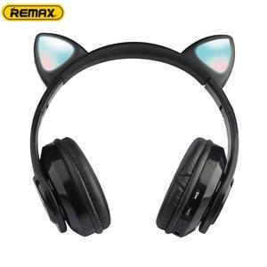 Беспроводные Игровые наушники с кошачьими ушками, Bluetooth, светящиеся наушники с мультяшным рисунком, стерео гарнитура для музыки, косплей, ре...