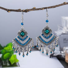 The new 2019 Bohemian alloy set auger velocity pendant earrings jewelry fashion woman