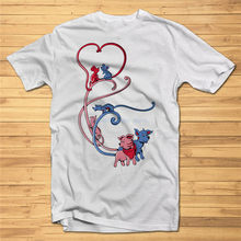 Mens T-Shirt Print Cute Love Dogs Dtg Fancy Tshirt Tees High Quality Graphic Big Tall Tee Shirt(China)