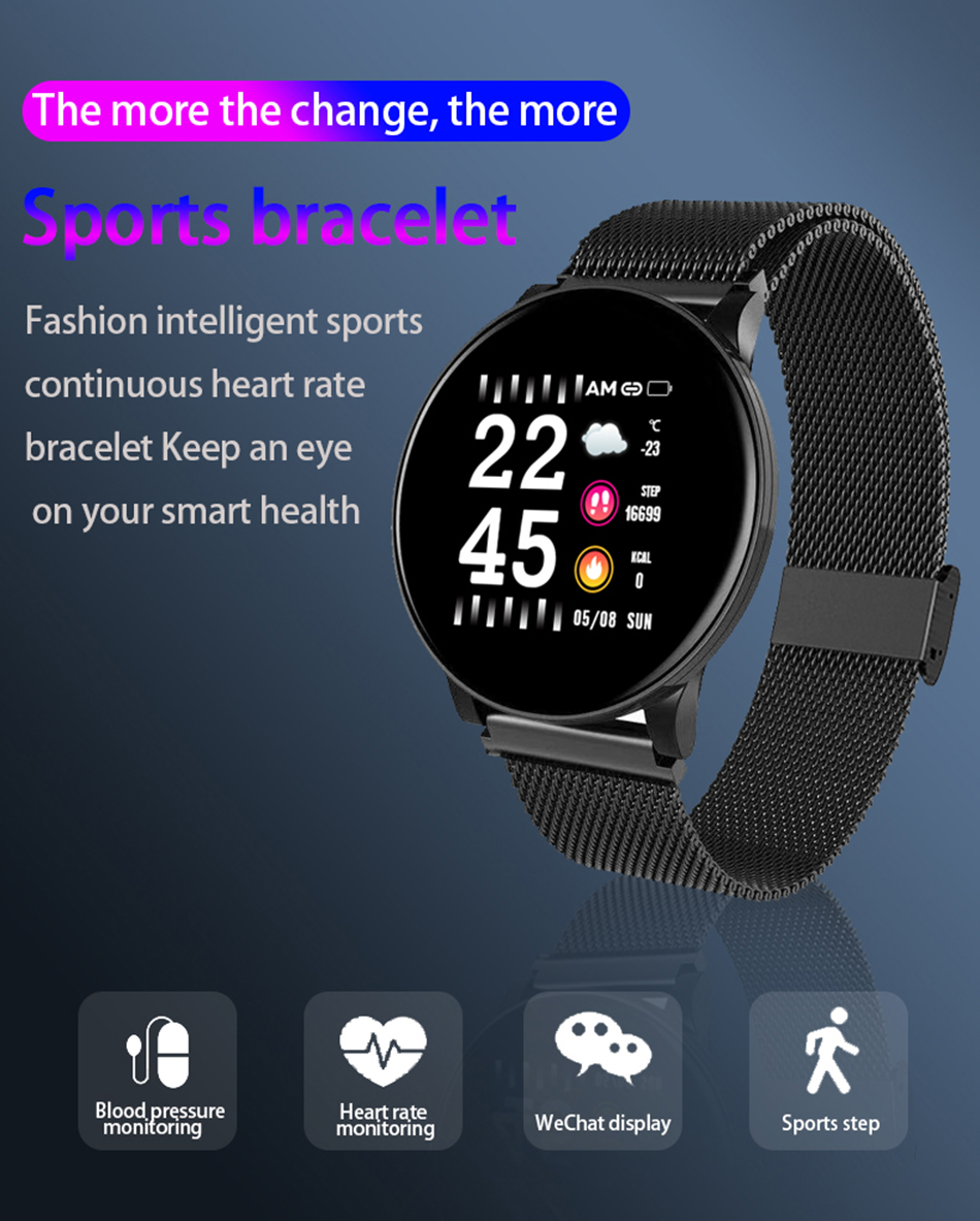 H5639807cbc66444cab4f85da924f79b4V BINSSAW Couples Smart Watch Kid Heart Rate Blood Pressure Dynamic Fitness Tracker Wearable Electronics Devices Smart Sport Watch