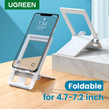 UGREEN Desk Phone Holder Stand Foldable Mobile Phone Stand for iPhone 12 Pro Max X 8 Portable Cell Phone Stand for Samsung S10