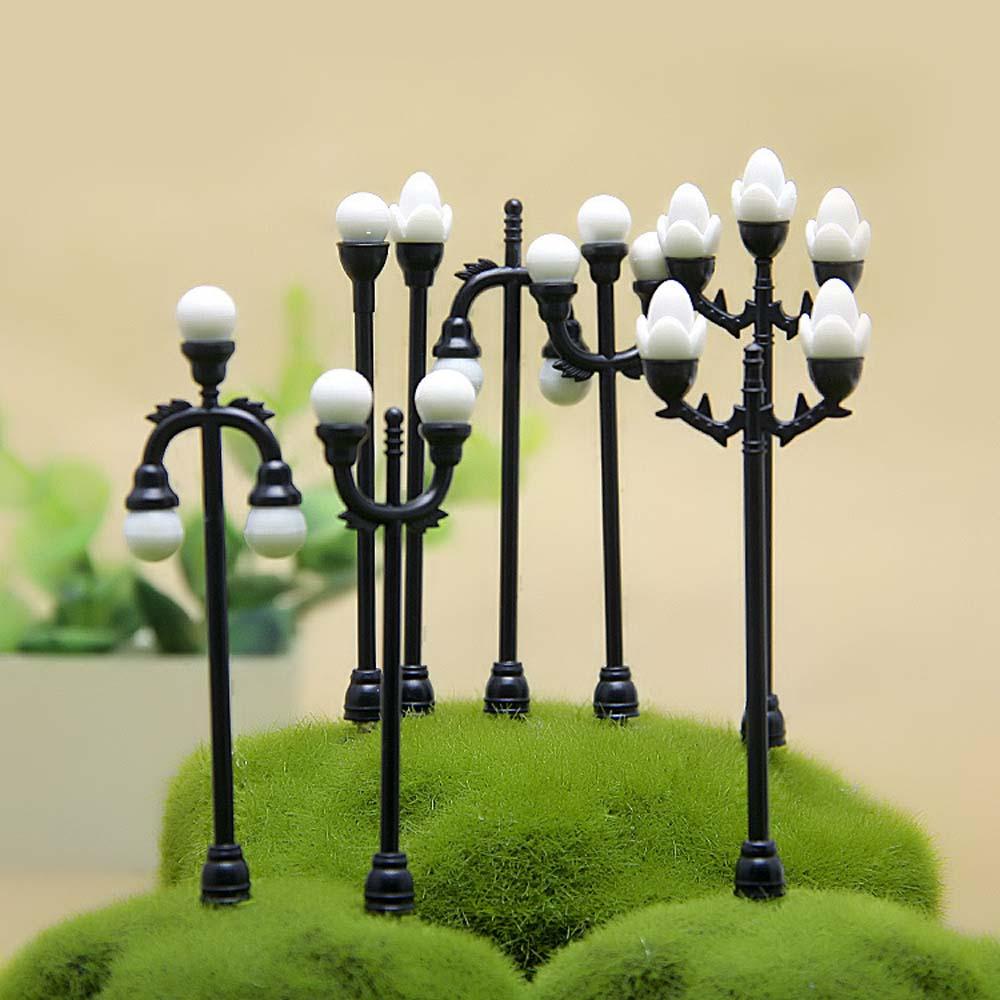 DIY миниатюрная винтажная лампа для творчества, декоративное украшение для сада и дома, искусственное мини-озеленение для аксессуаров ручно...
