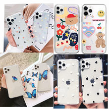 Untuk Fundas iPhone 11 Case Cover Apple Iphone 6 6S 7 7 Plus X XS Max 11 Promax Butterfly ponsel Cover Case untuk iPhone SE 2020 Capa(China)
