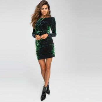 white lace details round neck short sleeves mini dress with lined Sexy Sheath Round Neck Long Sleeves Party Dress Fashion Green Velet Elastic Sequined Glitter Dress Partynight Bodycon Mini Dress