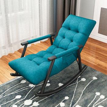 Fotel bujany Nordic Home pojedynczy fotel rozkładany na co dzień salon leżak balkon do sypialni fotel bujany krzesło Sofa pufa relaksacyjna tanie i dobre opinie CANBOUN CN (pochodzenie) Nowoczesne meble do salonu 96x59x83cm Nowoczesna i minimalistyczna Szezlong meble do domu Tkaniny
