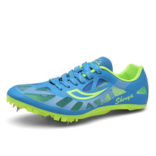 Training-Trainers Shoes Spikes Track Athletics Field And Men Lace-Up Breathable D0874