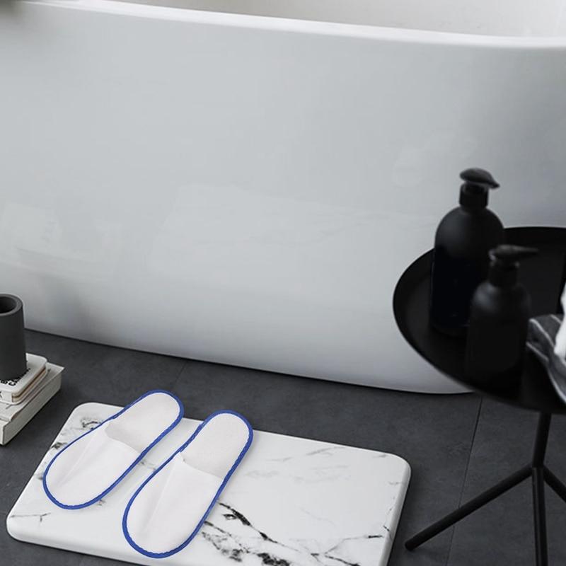 20 pares de towelling branco hotel chinelos