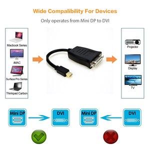 Image 3 - Adaptateur Mini DP DisplayPort vers DVI, câble actif vers femelle, convertisseur Thunderbolt pour MacBook Pro, AiMini TV, ordinateur portable, projecteur