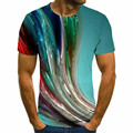 Men's 3D Printing Short Sleeve T-shirt Summer Neck New Fashion Trend Casual Short T-shirt 2021 Interesting Graphics