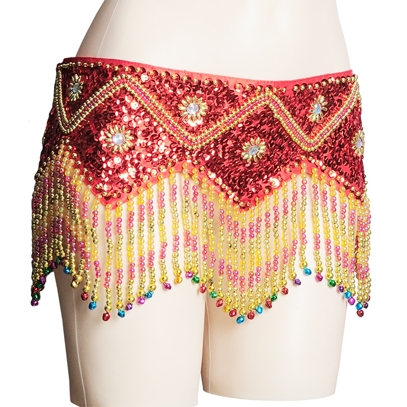Belly Dance Belt Sun Flower Handmade Beaded Tassel Belt Belly Dance Accessories