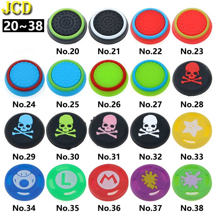 JCD 1PCS For PS4 Pro Slim Silicone Analog Thumb Stick Grip Cap Joystick Cover For PS3 PS4 PS5 Xbox 360 / One Controller