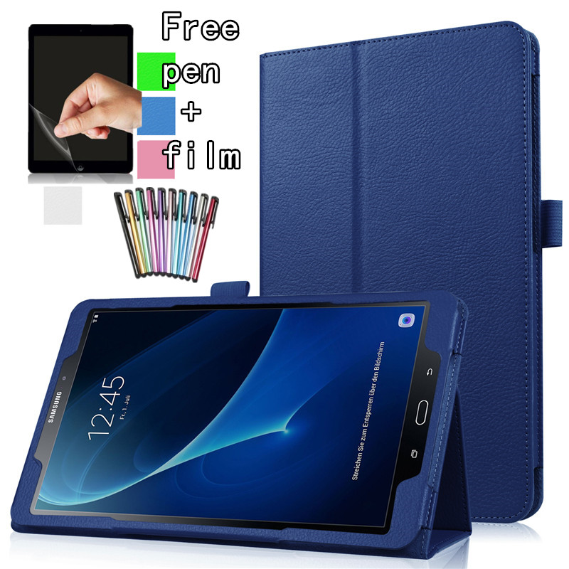 2020 Tab S6 Lite P610 Case For Samsung Galaxy Tab S6 Lite 10.4 SM-P610/P615 Tablet Cover Stand Case Leather Smart Cover+Film+Pen