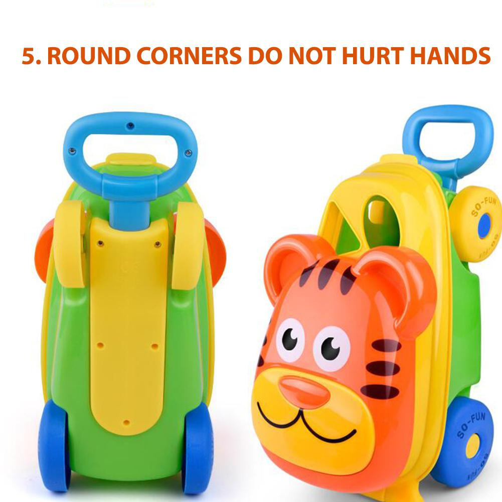 Kuulee Children Beach Luggage Cart Toy Luggage Cart +14 Accessories High Quality Child Interesting Toys Plastic