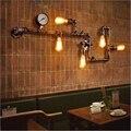 Американский в ретро стиле светодиодный E27 железные настенные лампы трубы настенный светильник освещение настенная лампа для салона  зала ...